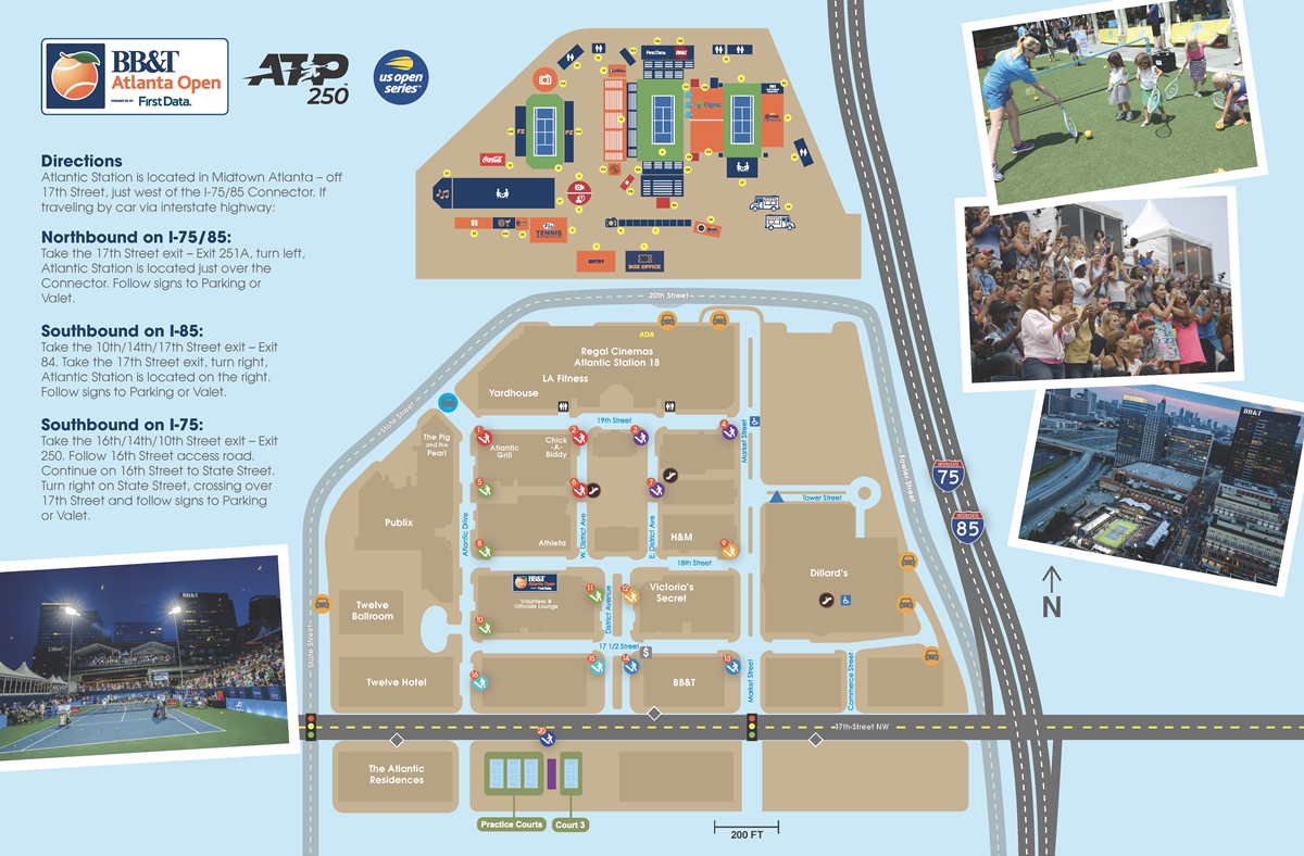 Directions Directions Parking Bbt Atlanta Open - Us-open-tennis-center-map