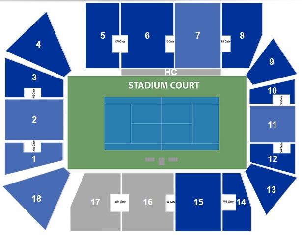 Stadium Map Winston Salem Open