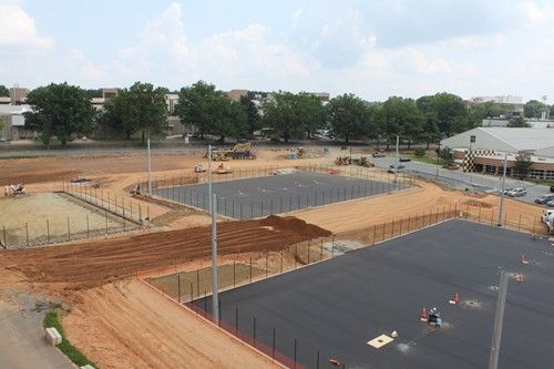 Wake Forest Tennis Stadium Construction