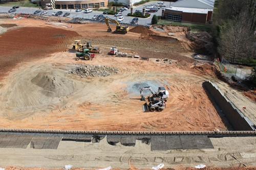 Wake Forest Tennis Stadium Construction