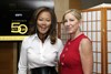 New president Kathleen Wu and USTA Foundation chairperson Chris Evert.
