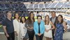 Ivy Wilson and Leena Bennetto are presented with their awards by Billie Jean King, USTA Foundation staff and Diane Donnelly Stone and Tracey Donnelly Maltby.