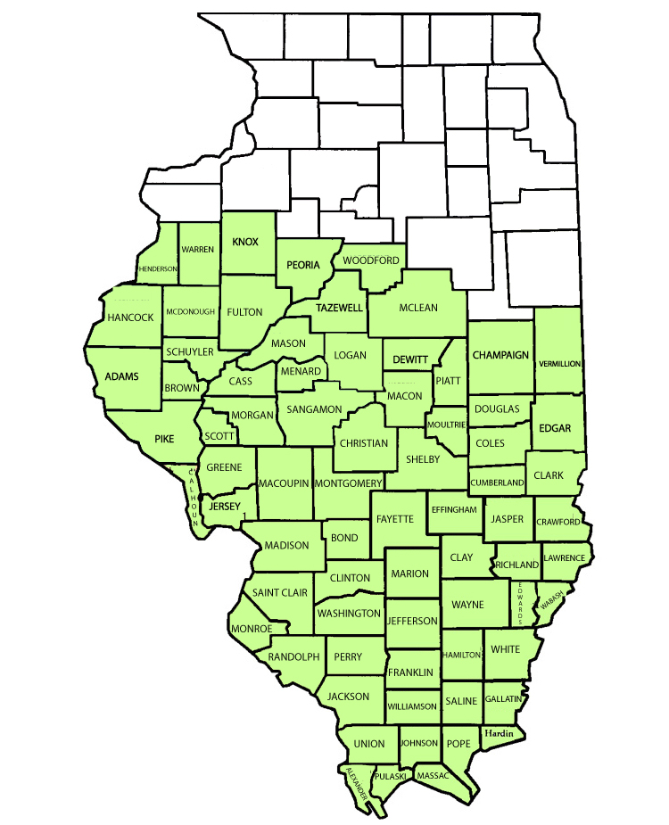 Maps District Map Mid South Illinois - Il-on-us-map