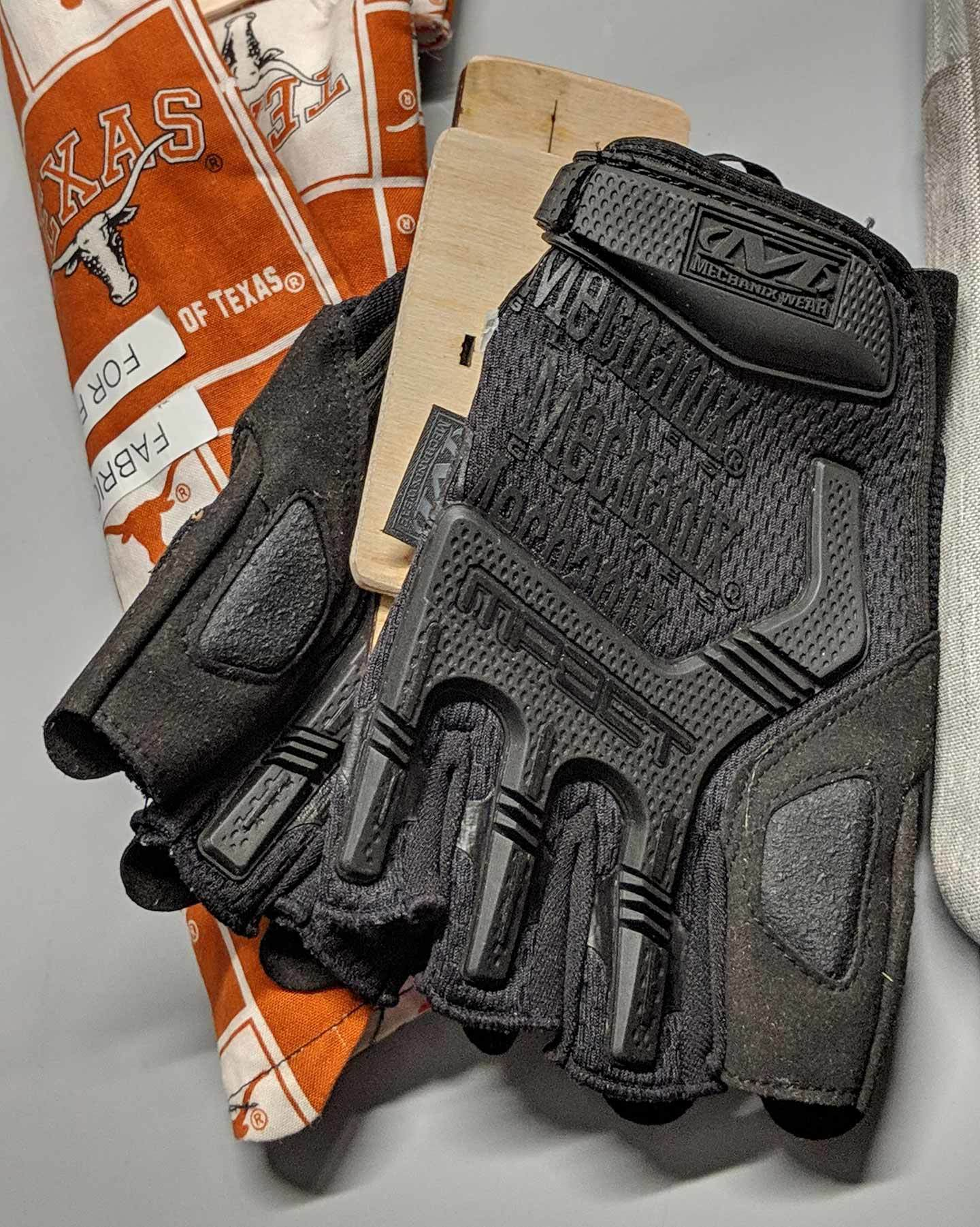 A prototype of gloves to make operating a wheelchair easier.