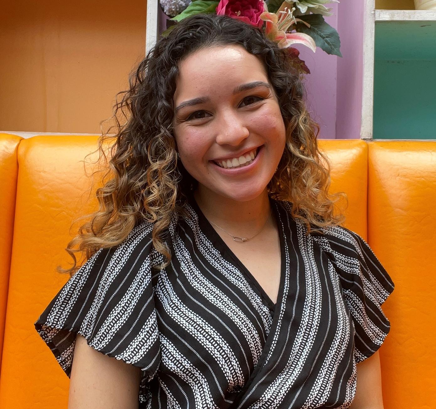 Undergraduate student Elizabeth Rodriguez smiles at the camera.