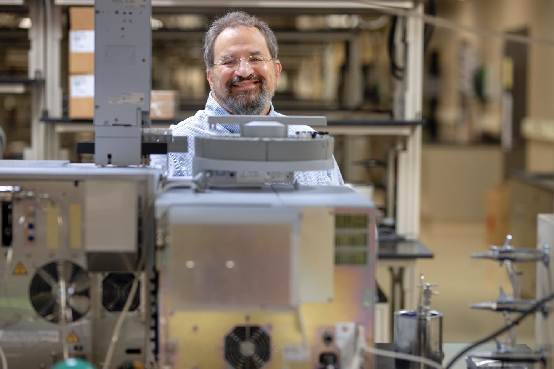 Tom Brenna in his lab.