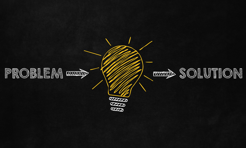 Illustration of a light bulb indicating a creative solution to a problem.