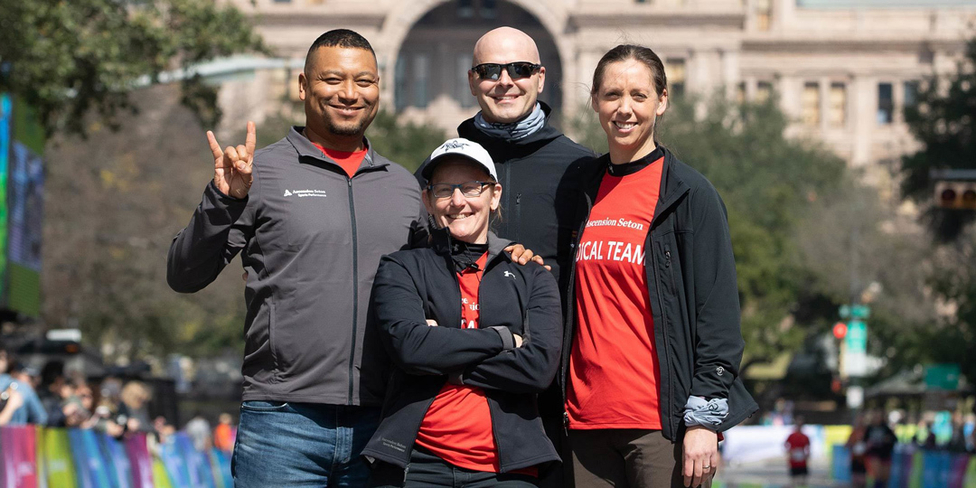 Medical team at the Austin Marathon.
