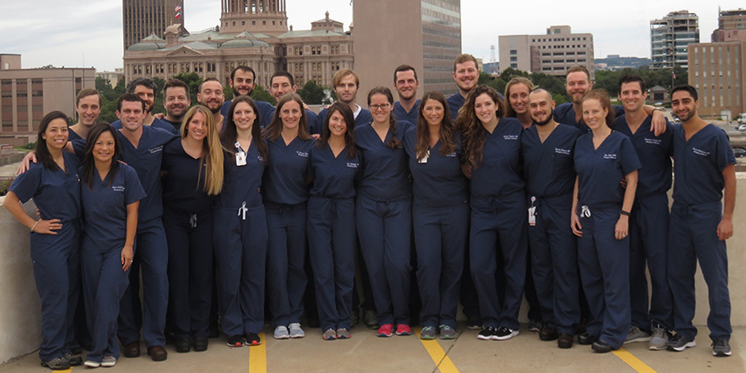 2018 class of Emergency Medicine residents.