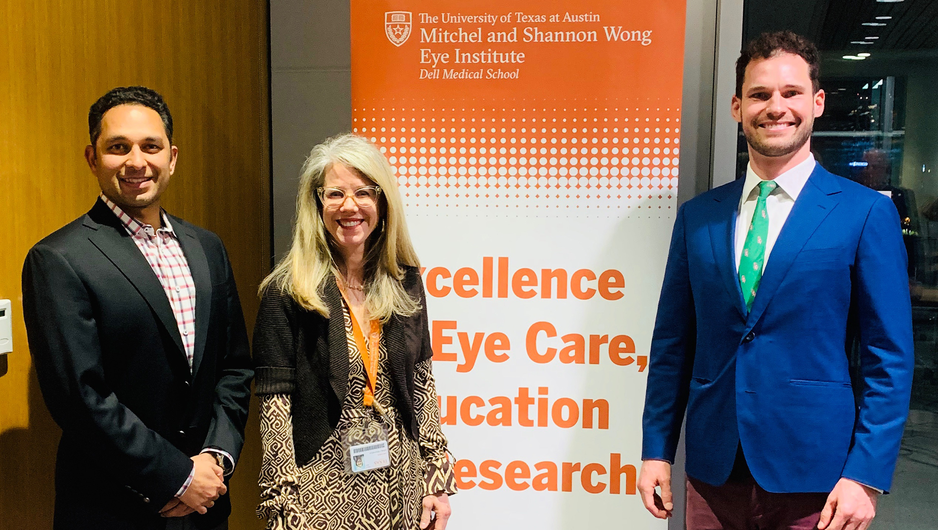 Three members of the Ophthalmology Residency in a group photo.