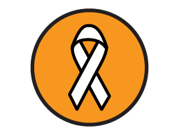 Ribbon for cancer support.