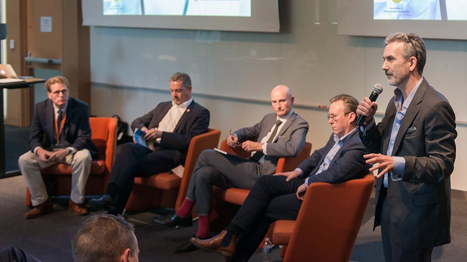 Group of speakers at an impact event.