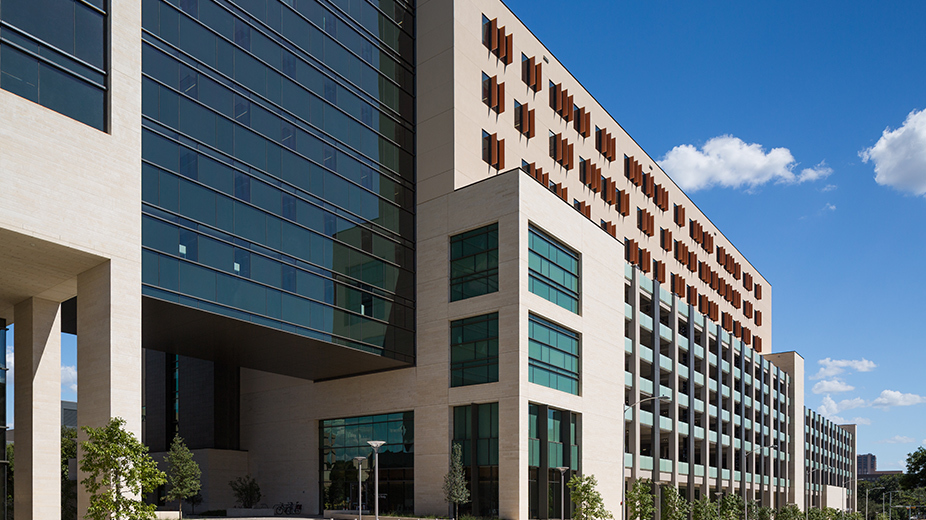 Exterior of the Health Transformation Building.