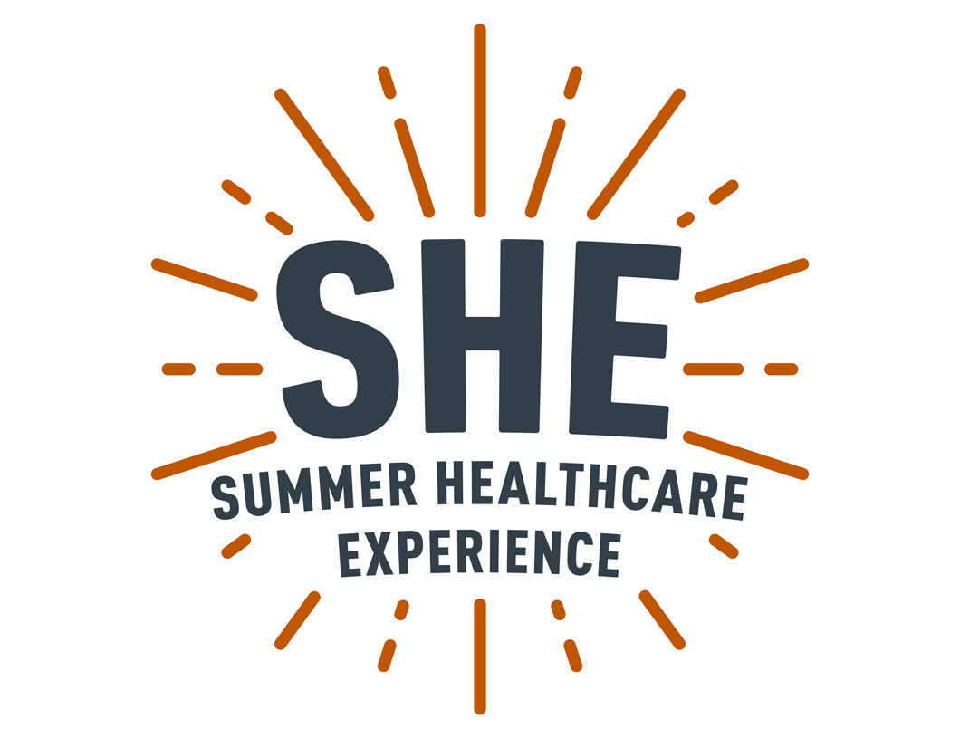 SHE program logo.