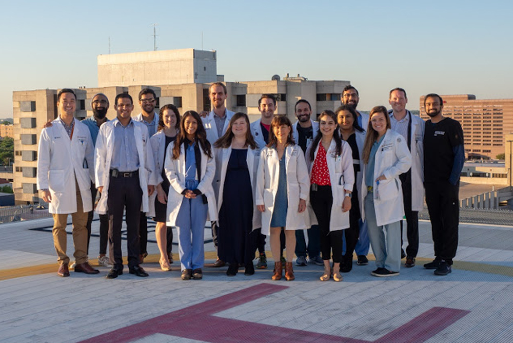 Group photo of Internal Medicine residents who are graduating in 2019.