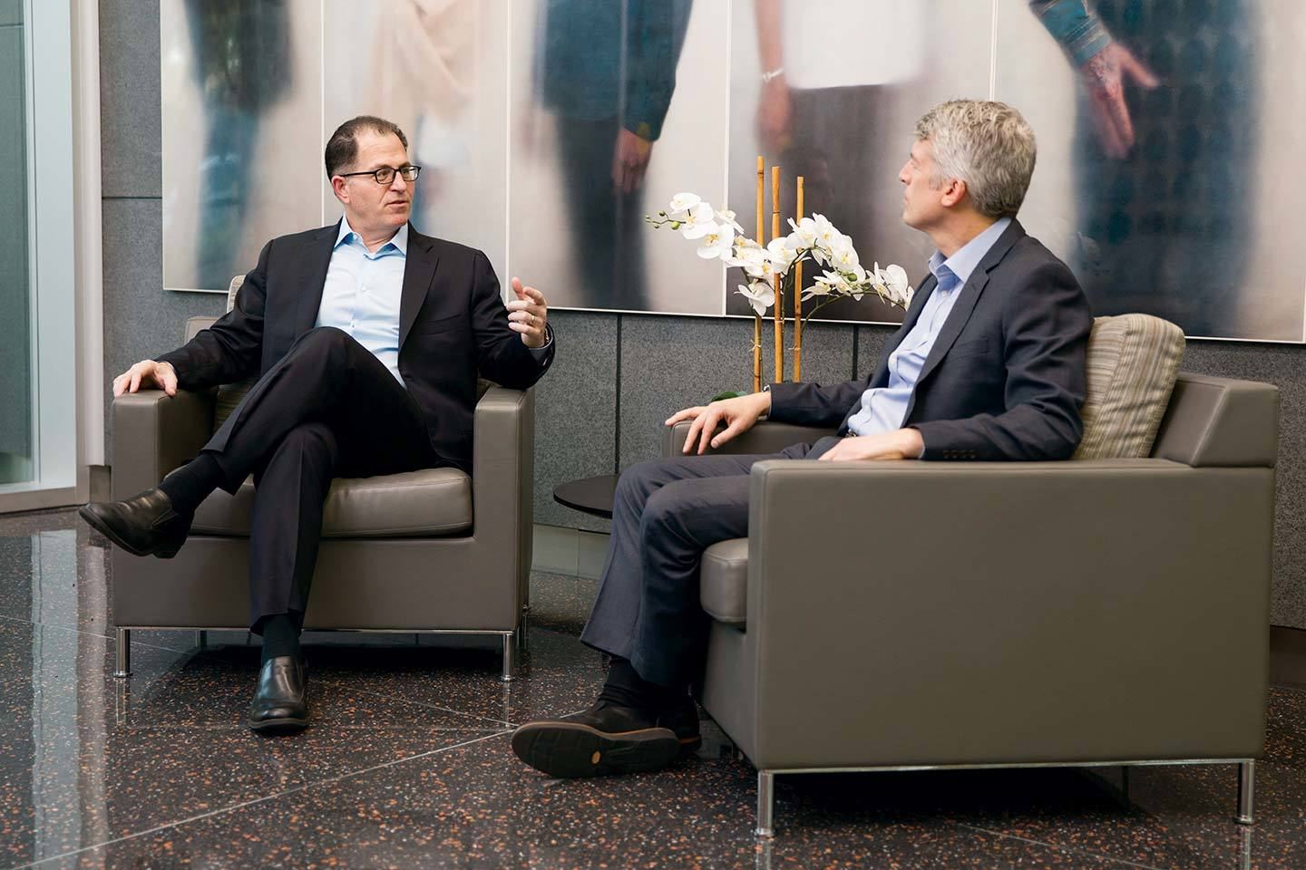 Michael Dell and Clay Johnston.