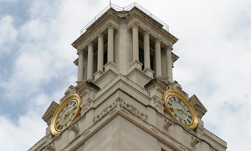 The top of the UT Austin Tower