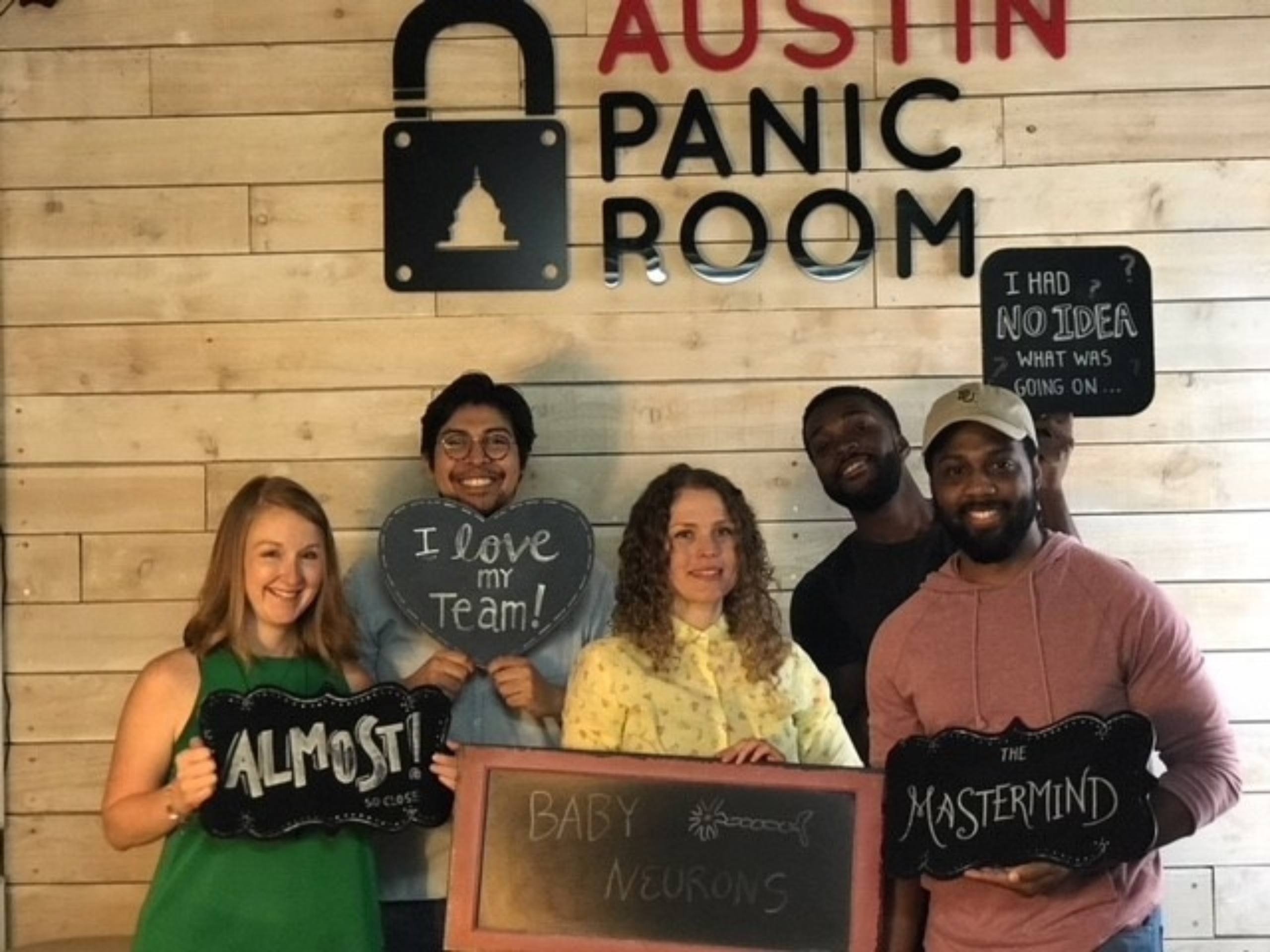 Students at Austin Panic Room.