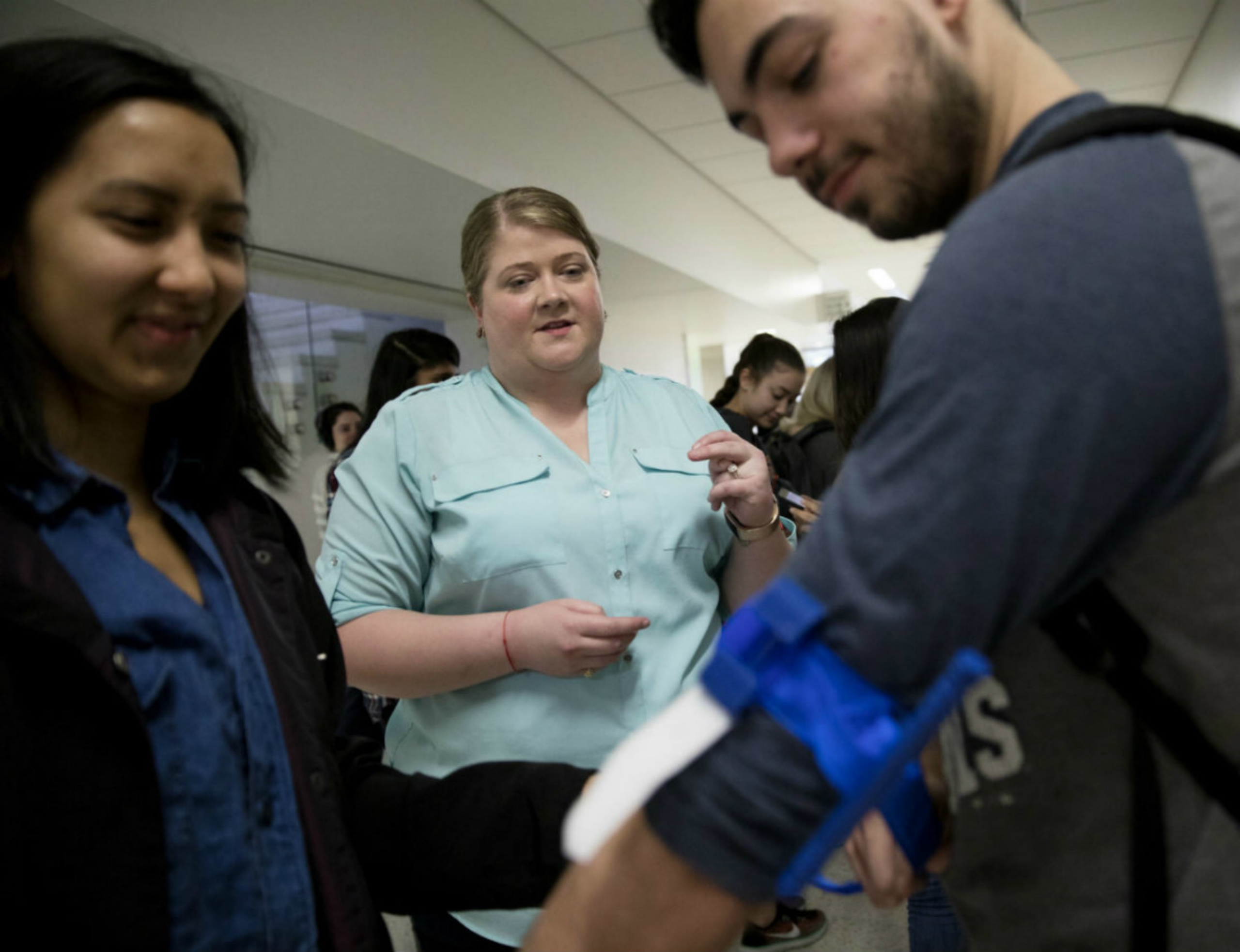 Students at a Stop The Bleed event.
