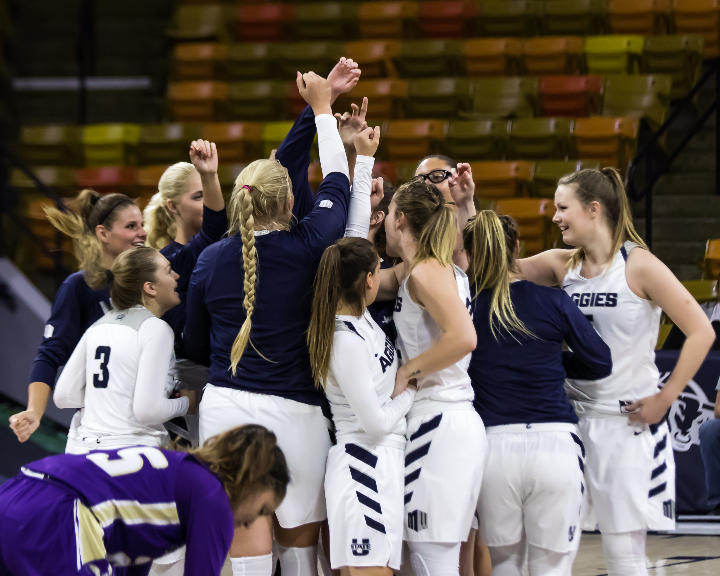 utah state women's basketball completes 2018-19 competition schedule