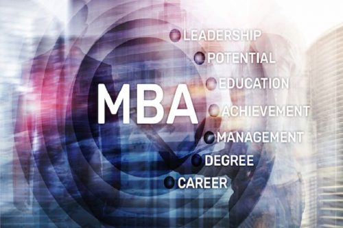 Visual bullet points of the definition of an MBA.