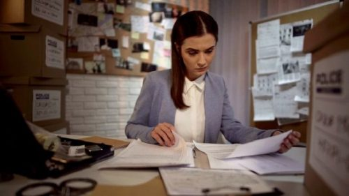 Forensic accountant investigates anti-money laundering case.