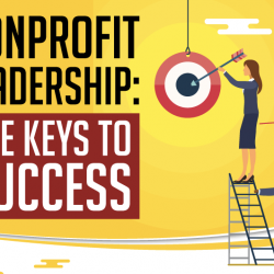 An infographic about nonprofit leadership by USC Sol Price School of Public Policy.