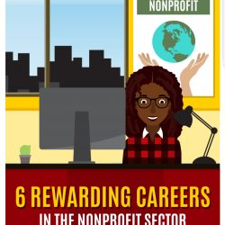 An infographic about awarding careers in the nonprofit sector by USC Sol Price School of Public Policy.