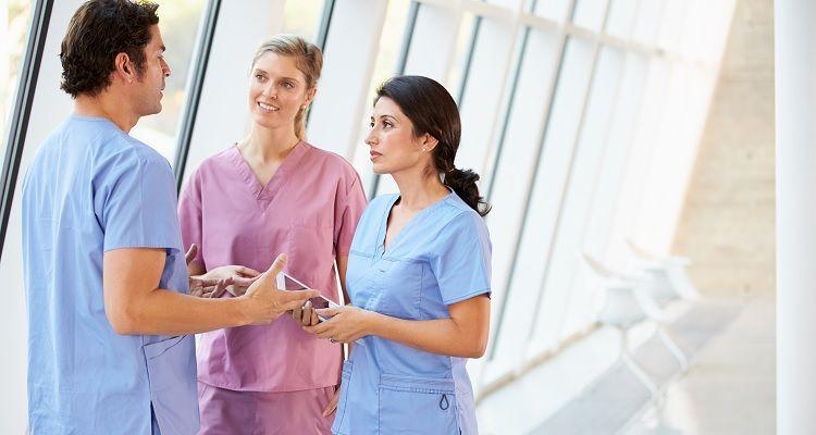 Nursing team collaborating