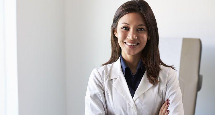Smiling Nurse Practitioner folding her arms
