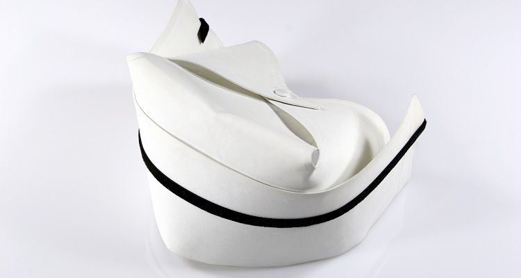 Crisp white nurses hat