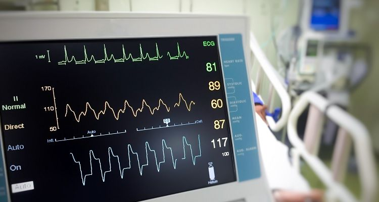 Health monitor in patients room