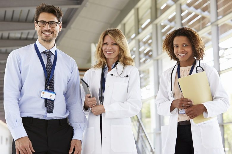 3 nurses smiling