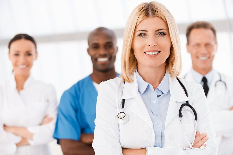 nurse supervisor with her team