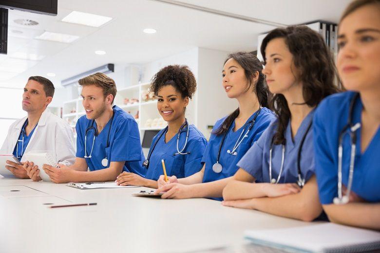 nurses in a classroom