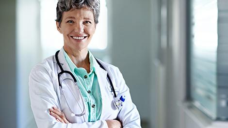 Female nurse practitioner