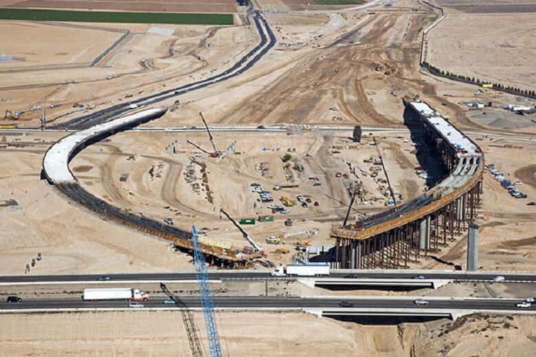 Aeriel view of construction
