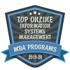 2019 - 20 Top Online Information Systems Management - MBA Programs badge