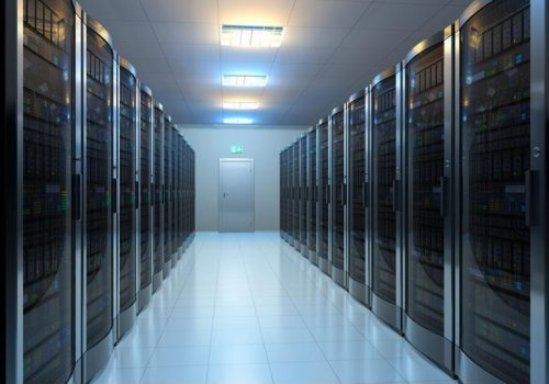 Multiple pieces of computing equipment in a data center.