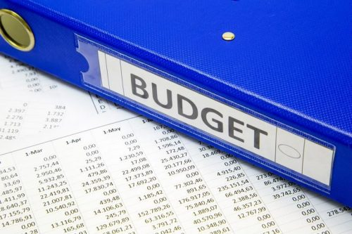IT budget documents and binder