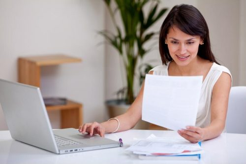 A professional studies remotely for an MBA