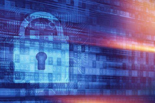 A digital image of a padlock
