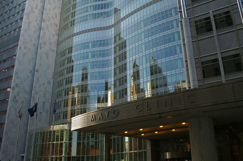 Exterior shot of the Mayo Clinic