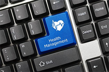 Keyboard with Health Management replacing the enter key