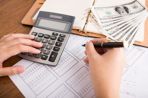 Student creating a budget for their upcoming semester