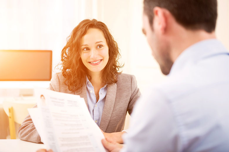 Smiling woman business professional