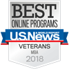 Best Online Programs Badge Veterans MBA 2018