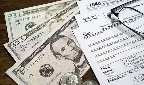cash and tax forms