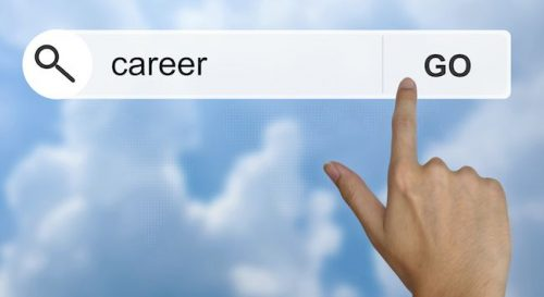 searching career on computer