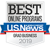 Best Online Programs Badge Grad Business 2019